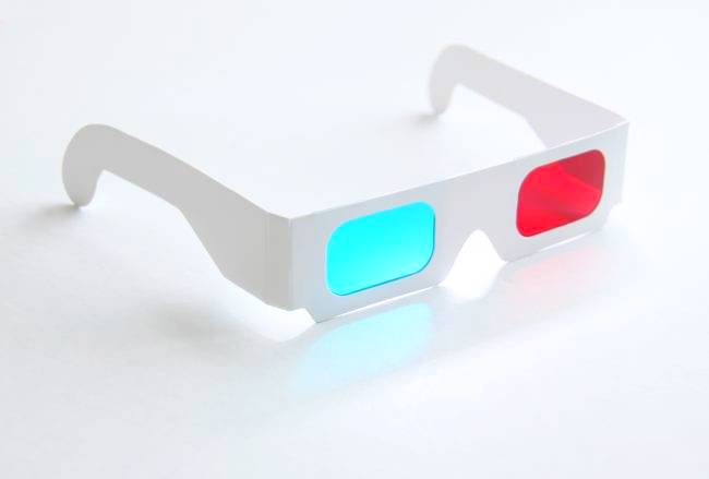 3D red-cyan glasses